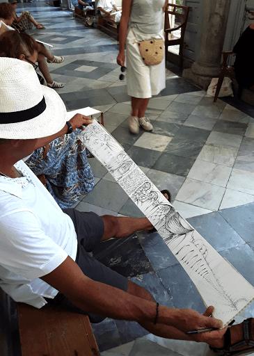 stage CARNET DE VOYAGE _ aquarelle  avec JEANNE PAPA_Palerme 2019_ travaux des éléves_ Fontainebleau_ Seine et Marne