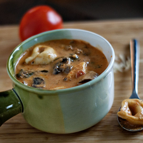 Creamy Slow-Cooker Tortellini Soup Recept | Yummly