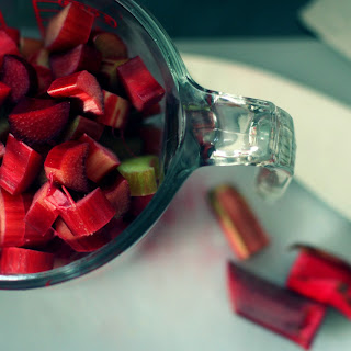 Vegan Rhubarb Oat Bars