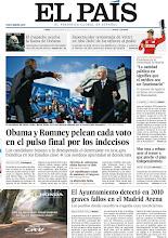 Photo: Obama y Romney pelean cada voto en el pulso final por los indecisos, el Ayuntamiento de Madrid detectó en 2010 graves fallos en el Madrid Arena y una entrevista con Ignacio González http://srv00.epimg.net/pdf/elpais/1aPagina/2012/11/ep-20121105.pdf