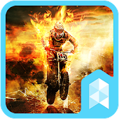Fire Motorcycle Launcher theme