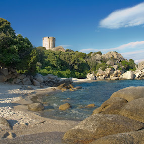 Beach in Corsica by Gernot Koller - Landscapes Waterscapes ( bay, corsica, cove, beach )