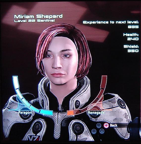Miriam's ME2 status picture