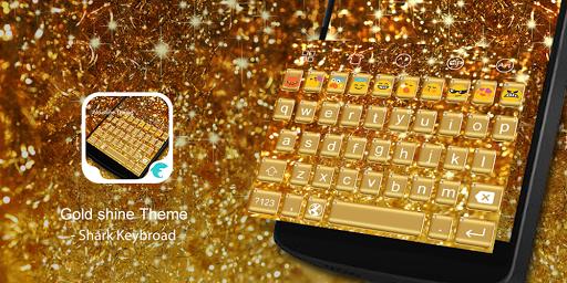 Emoji Keyboard-Gold Shine
