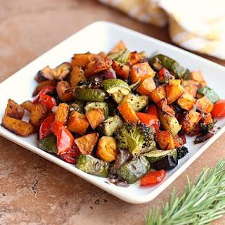 Balsamic Rosemary Roasted Vegetables (Vegan, Grain-Free).