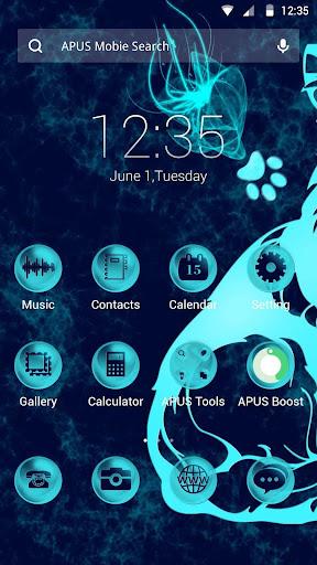 Deep blue theme for APUS