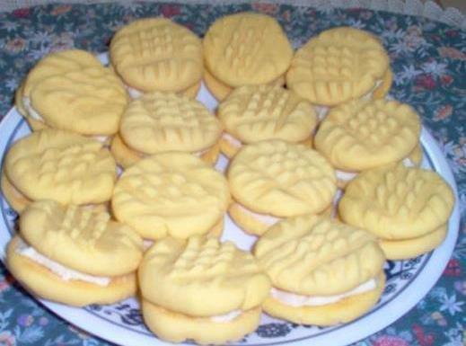Remove to cooling rack and cool completely. --- If you would like to make sandwich cookie...