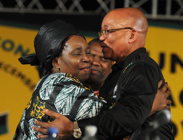 President Jacob Zuma and Nkosazana Dlamini-Zuma. Picture: ANC MEDIA PIX