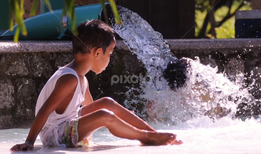 My Pool by Dave Lerio - Babies & Children Children Candids ( splash, pool, falls, children )