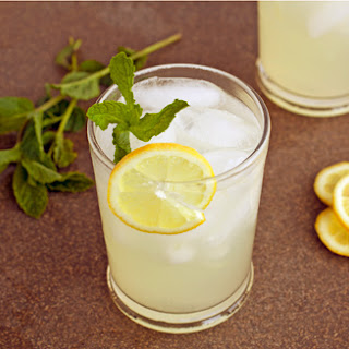 Fresh Squeezed Lemonade with Mint.