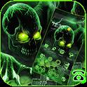 Green Horrific Zombie Skull Theme icon