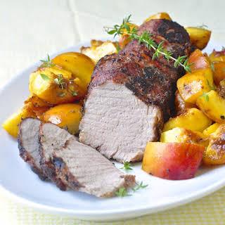 Grilled Balsamic Peach Pork Tenderloin.
