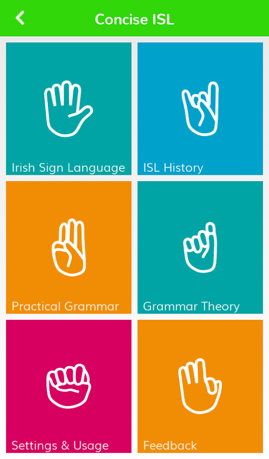 Concise Irish Sign Language- screenshot