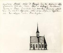 Photo: 1809 Capel van Beek, onder 't Haagje (tekening van H. Verhees (1744-1813).