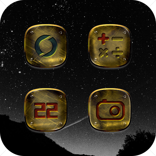 Classical Brass Metal Icon Pack