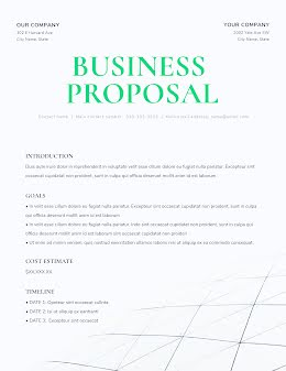 Clean Business Proposal - Business Proposal item