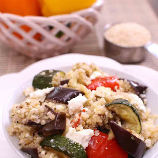 Quinoa, Roasted Eggplant and Zucchini Salad