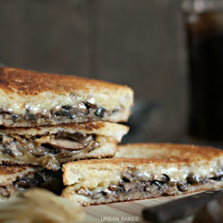 Mushroom and Onion Grilled Cheese Sandwich.
