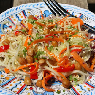 Sweet & Sour Thai Carrot & Cucumber Noodle Salad