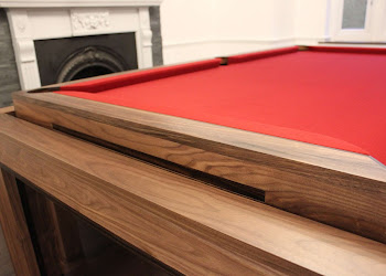 Side view of Elevated Pool Table