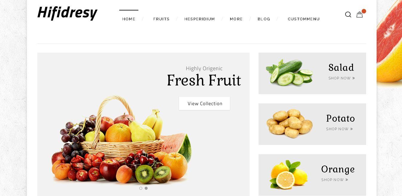 Fruits and vegetables magento theme hifidresy