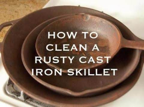 How To Clean A Rusty Cast Iron Skillet Recipe