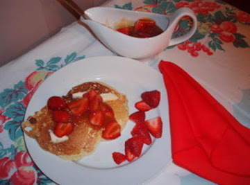 Buttermilk Pancakes With Strawberry Sauce Recipe