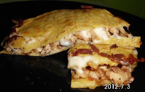 Grilled Chicken And Rice Corn Quesadilla