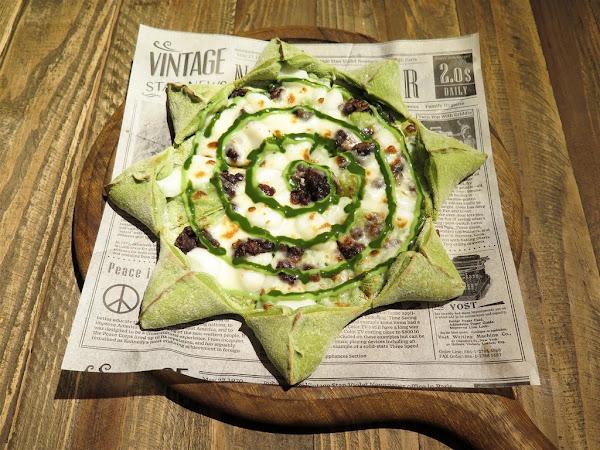 """Chuju Waffle 雛菊鬆餅 -- 新款義大利麵、燉飯、披薩、鬆餅登場!超浮誇的 """"綠野仙蹤"""" 抹茶套餐"""