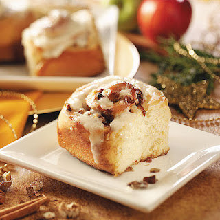 Apple-Pecan Cinnamon Rolls.