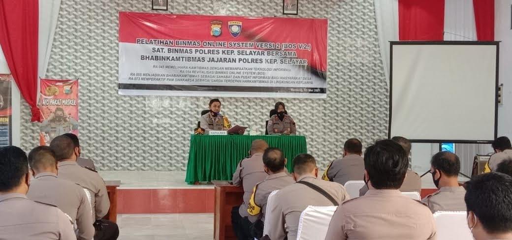 Buka Pelatihan Binmas Online Berikut, Perintah Kapolres Selayar