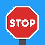 Stop The Car Icon