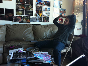 Photo: Pete having breakfast
