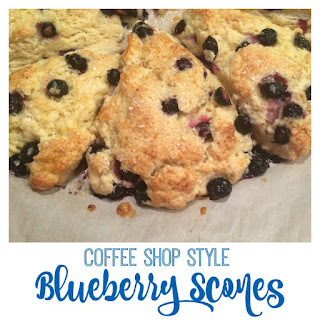 Coffee Shop Style Blueberry Scones