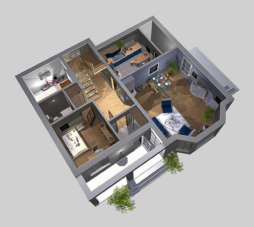 APS 036 - Rzut parteru 3D