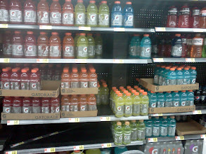 Photo: In our house Gatorade goes as fast as water. I had to pick up a bunch.