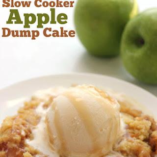 Slow Cooker Caramel Apple Dump Cake.