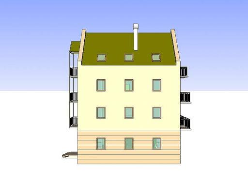 Budynek wielorodzinny-MDM6 - Elewacja prawa
