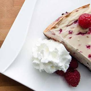Raspberry Vanilla Protein Cheesecake.