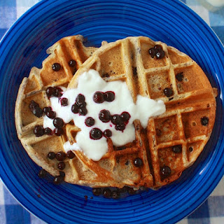 Wild Blueberry Oatmeal Waffles