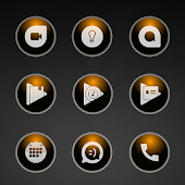 Glossy Orange Icons