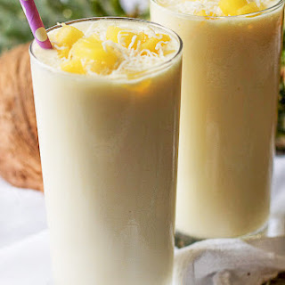 Pineapple Coconut Breakfast Smoothie.