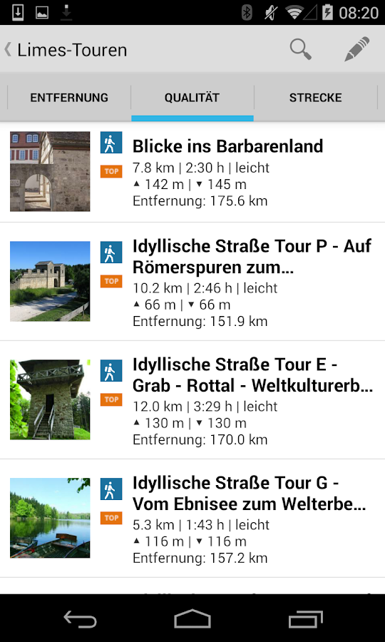 Virtuelle Limeswelten mobil- screenshot