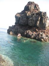 Photo: swimming in a cove off Ammoundi