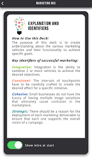 Marketing Mix Cards- screenshot thumbnail