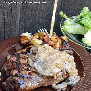 Steaks with Bourbon Mushroom Sauce.