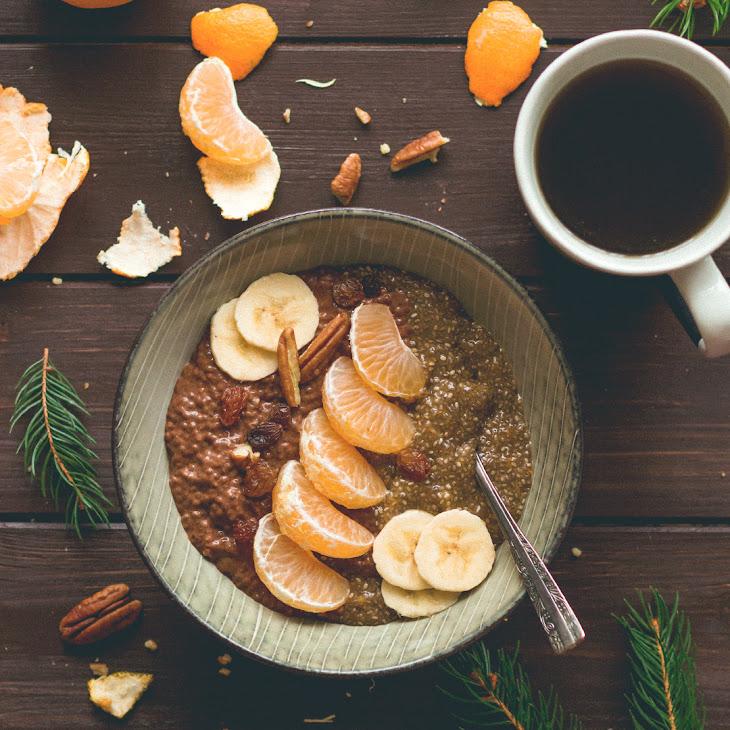Tangerine & Chocolate Chia Pudding Recipe