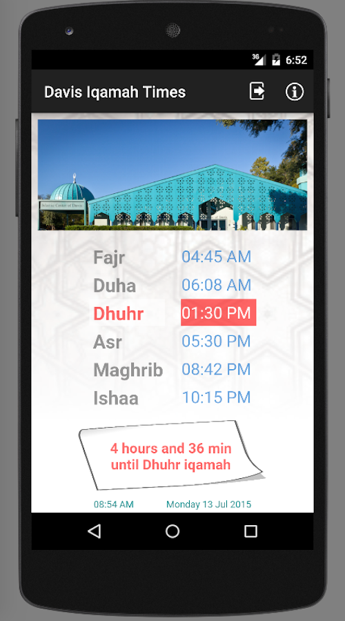 Davis Iqamah Times- screenshot