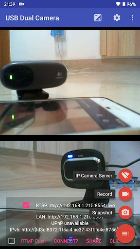 usb dual camera - connect 2 usb webcams screenshot 3