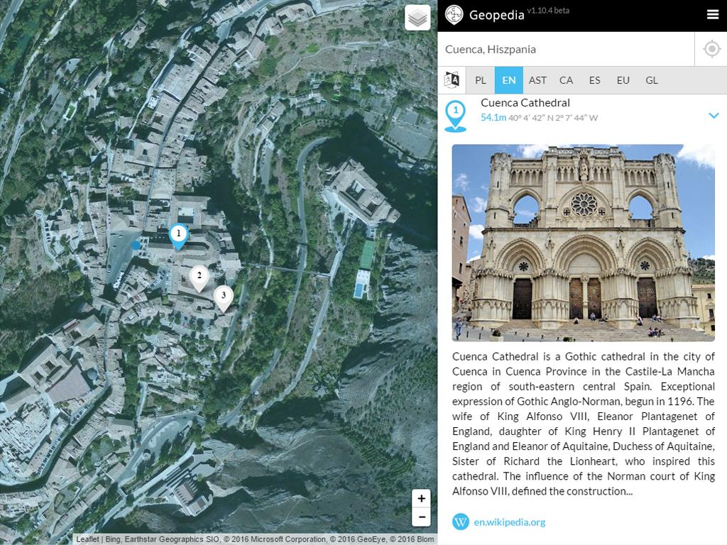 Geopedia- screenshot
